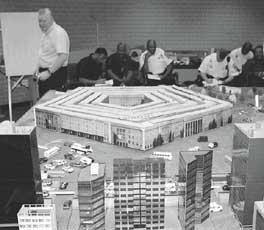 Foto der Tisch-Massenunfallübung im Pentagon
