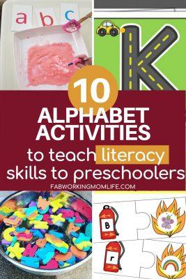 literacy skills activities for preschoolers