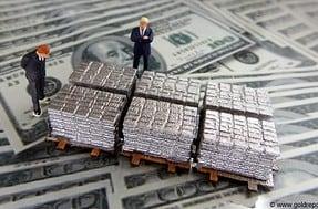 Papier-Silber, Banken