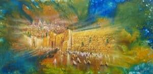 western wall jerusalem painting