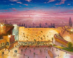 Sunrise by the Kotel Painting