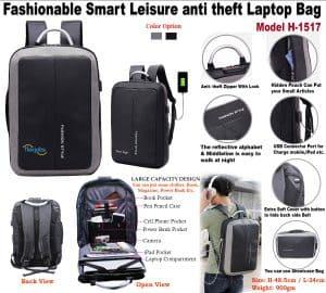 Fashionable Smart Leisure anti theft Laptop Bag H-1517