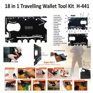 18 in 1 Travelling Wallet Tool Kit 441