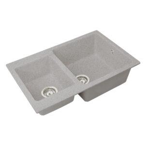 Խոհանոցային լվացարան GS-76K մուգ մոխրագույն Gran-Stone