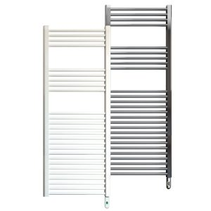 Rointe Giza Pro electric towel rail 500W in white or chrome