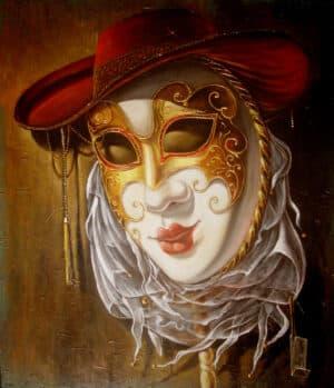 Venetian mask painting
