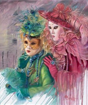 Venetian Fairies, Painting by Alex Levin