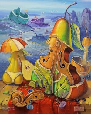 music painting surrealism