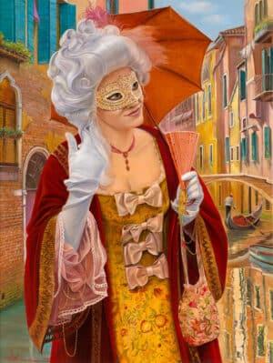 Miss Venetta, Painting by Alex Levin