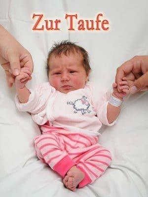 Zuckerbild DIN-A4 Taufe