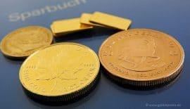 Goldmünzen, Goldbarren (Foto: Goldreporter)