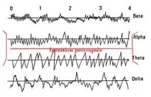 Le Dr TART a observé que les intuitions se produisent entre les gammes d'ondes Alpha et Thêta