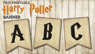 Free Printable Harry Potter Banner Letters template. Hogwarts wizarding world party decorations for a birthday, wedding, or baby shower. #papertraildesign #harrypotter #HP #Hogwarts #HarryPotterbirthday #HarryPotterBirthdayParty #birthday #birthdayparty #happybirthday #birthdaybanner #hogwartsbanner #party #partybanner #partydecorations #birthdaydecor #birthdaydecorations #decor #partydecor