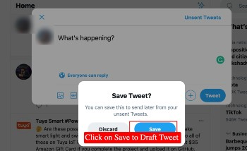 save twitter draft on computer