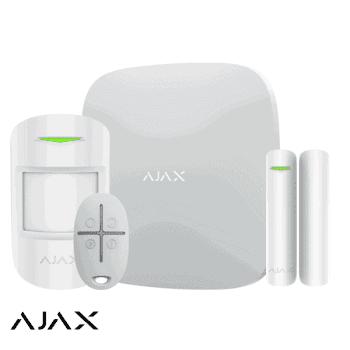 ajax draadloos alarmsysteem set woning klein wit
