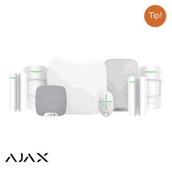 ajax draadloos alarmsysteem set woning wit