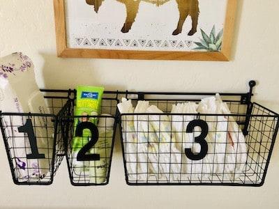 Nursery Organization: Changing Table Storage Ideas