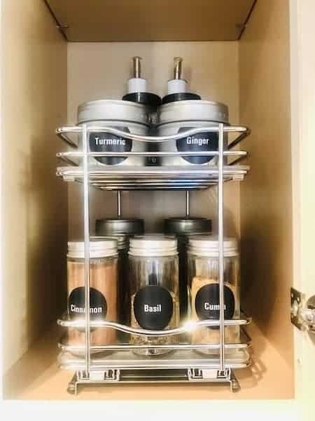 Spice Storage - Spice Jars and Slide-Out Rack