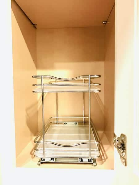 Spice Storage: Double Slide-Out Spice Rack for Cabinets