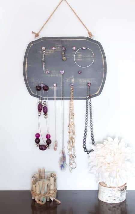 Organize a Teen's Bedroom: DIY Rustic Glam Jewelry Organizer