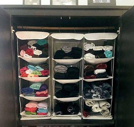 DIY Bedroom Organization - Hanging Shelves