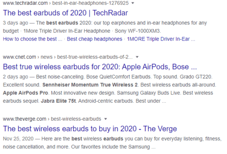 seo writing top results