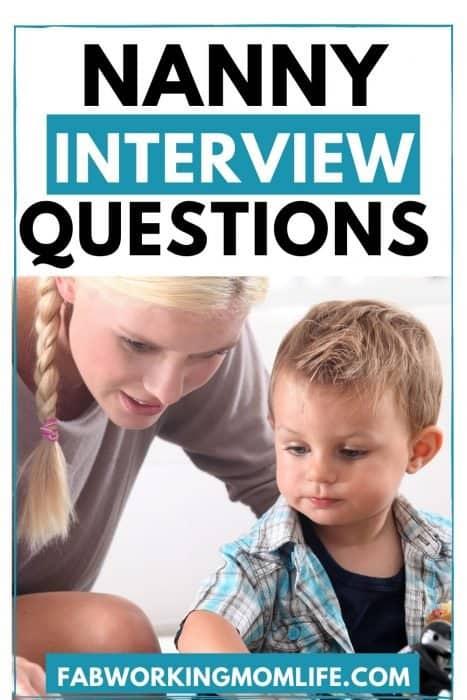 nanny interview qs