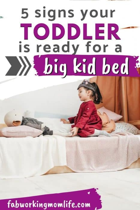 5 signs your toddler is ready for a big kid bed