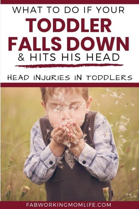 toddler falls and hits his head