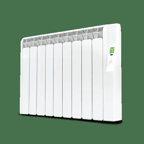 Rointe Kyros 9 element smart timer aluminium oil filled radiator in white