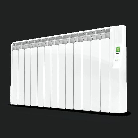 Rointe Kyros 13 element smart timer aluminium oil filled radiator in white