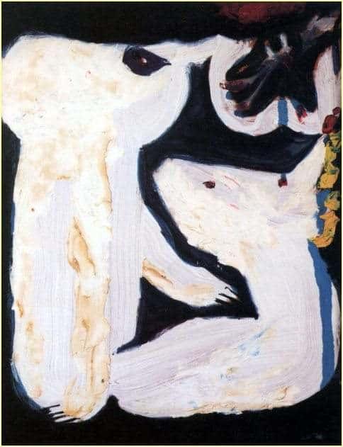 Poinsettia - Don Van Vliet painting  - 1976