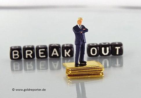 Gold, Goldpreis, Ausbruch (Foto: Goldreporter)