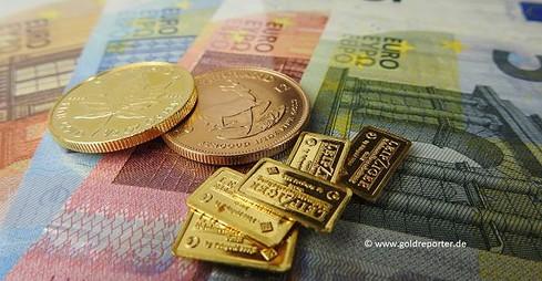 Gold, Goldmünzen, Euro, Goldpreis (Foto: Goldreporter)