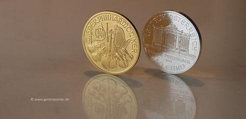 Gold, Silber, Goldmünze, Silbermünze (Foto: Goldreporter)