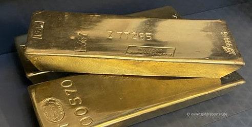 Gold, Goldbarren, BIZ (Foto: Goldreporter)
