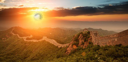 Goldenes China, Goldpanda im Abendrot (Foto: Zhu Difeng - Fotolia / Goldreporter)
