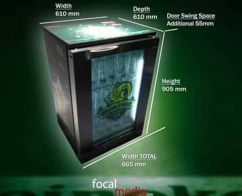 Heineken – FML DAMOC Coolers – Dimensions