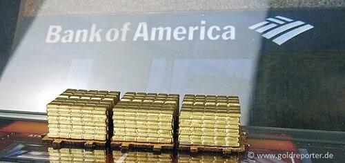 Gold, Goldpreis, Bank of America, Prognose (Foto: Goldreporter)