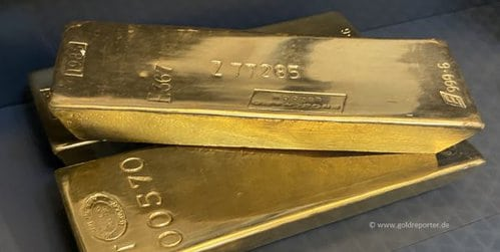 Gold, Goldbarren, Banken (Foto: Goldreporter)