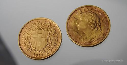 Gold, Vreneli, Münze