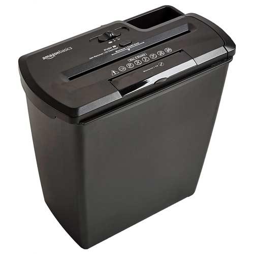 AmazonBasics-8-Sheet-budget-friendly-strip-cut-shredder