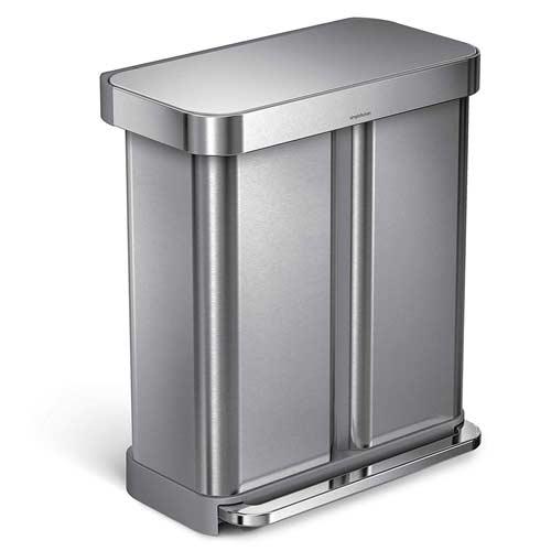 dual-trash-can-simplehuman-kitchen-waste-bin