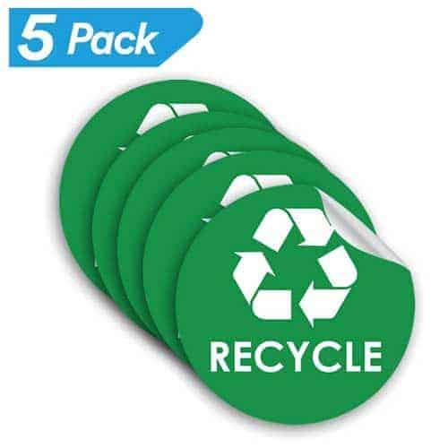 5-pack-Recycle-Sticker-Trash-Bin-Label