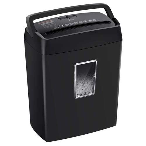 Bonsaii-6-Sheet-Cross-Cut-Paper-Shredder-Black-C204-C