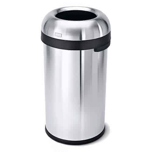simplehuman-16-Gallon-Bullet-Open-Top-Trash-Can