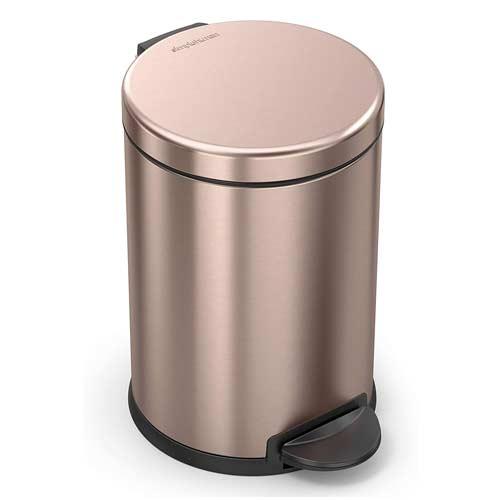 simplehuman-rose-gold-1-gallon-bathroom-trash-can