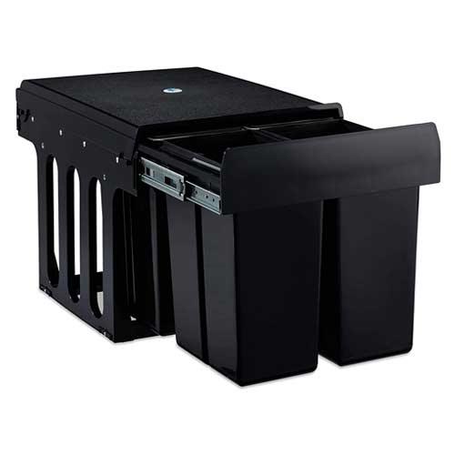Relaxdays-Built-In-4x8Litre ausziehbarer Mülleimer