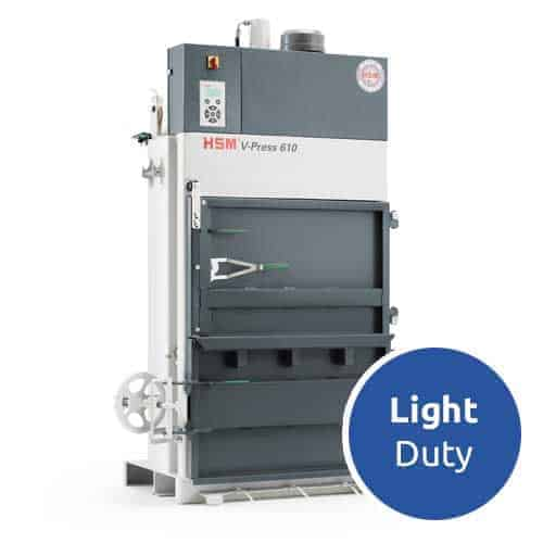 HSM-V-Press-610-eco-light-duty-cardboard-baler