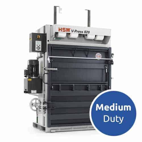 HSM-V-Press-820-medium-duty-cardboard-baler